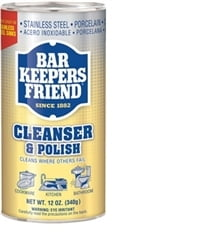Bar Keeper's Friend Stainless Steel Cleanser & Polish - 12 oz