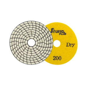"Stone Plus Dry Polishing Pad - 4"", 200 grit"